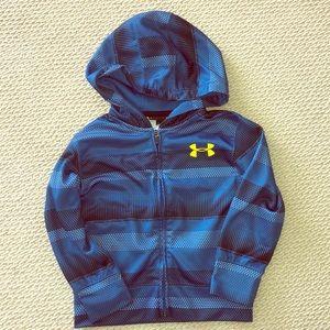 NWOT Boys Under Armour zipper hoodie size 4.